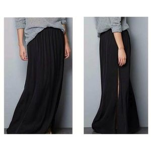Zara silk maxi skirt